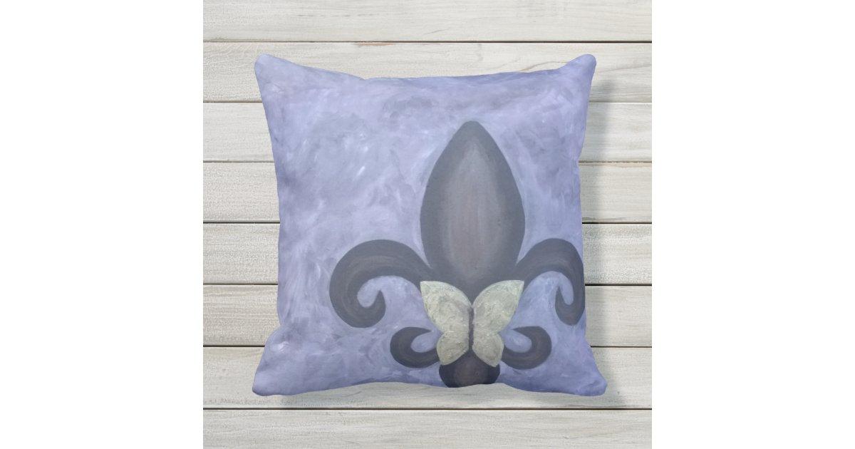 st rrische singr n schmetterlings lilie des kissen f r drau en zazzle. Black Bedroom Furniture Sets. Home Design Ideas