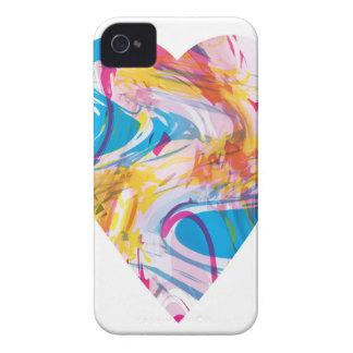 Störschub-Kunst-Herz iPhone 4 Case-Mate Hülle