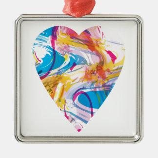 Störschub-Kunst-Herz Silbernes Ornament