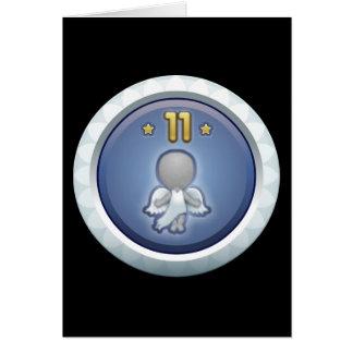 Störschub: Leistung stieg level11 auf Grußkarte