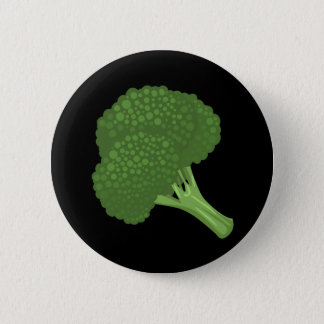 Störschub-Nahrungsmittelbrokkoli Runder Button 5,7 Cm