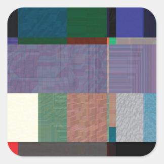 Störschub Nr. acht Quadratischer Aufkleber