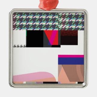Störschub Nr. drei Quadratisches Silberfarbenes Ornament