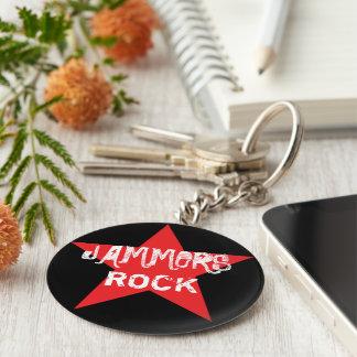Störsender-Felsen! Rollen-Derby-Knopf Keychain Schlüsselanhänger
