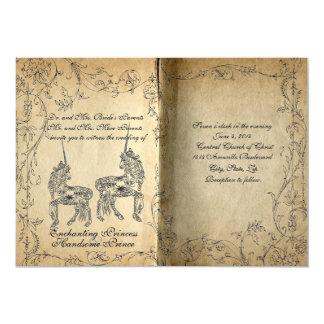 Storybook-perfekte Einhorn-Hochzeits-Einladung Karte