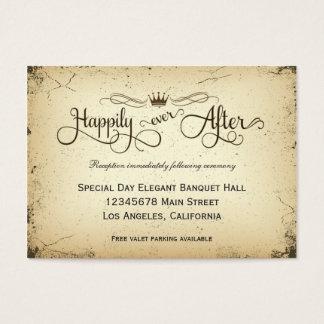 Storyline-formale Hochzeits-Empfangs-Karte Visitenkarte