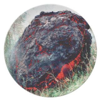 Stoß des Feuers und der Flamme Teller