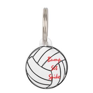 Stoß-Set-Spitzen-Volleyball Haustiermarke