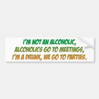 Stoßdämpfer - Alkoholiker Autoaufkleber
