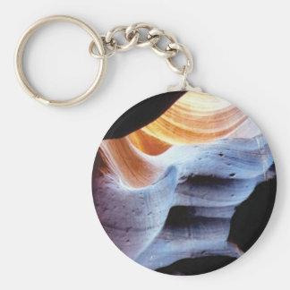 Stöße und Klumpen in den Felsen Schlüsselanhänger