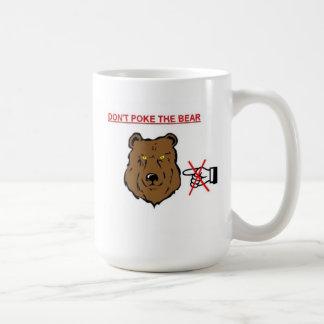 Stoßen Sie nicht den Bären Kaffeetasse