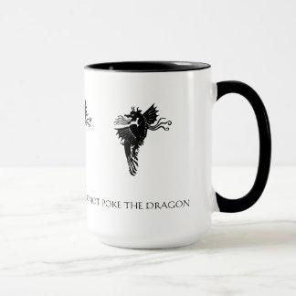 Stoßen Sie nicht die Drache-Kaffee-Tasse Tasse