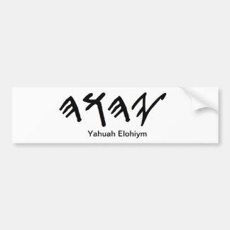 Stoßstock Paleo hebräischer Vater Yahuah Autoaufkleber