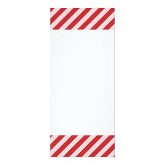 [STR-RD-1] Rote und weiße Zuckerstange striped 10,2 X 23,5 Cm Einladungskarte