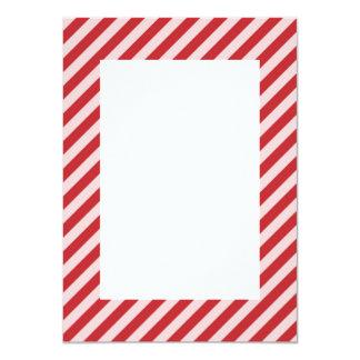 [STR-RD-1] Rote und weiße Zuckerstange striped 11,4 X 15,9 Cm Einladungskarte