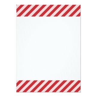 [STR-RD-1] Rote und weiße Zuckerstange striped 14 X 19,5 Cm Einladungskarte