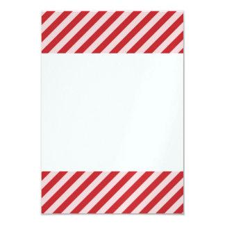 [STR-RD-1] Rote und weiße Zuckerstange striped 8,9 X 12,7 Cm Einladungskarte