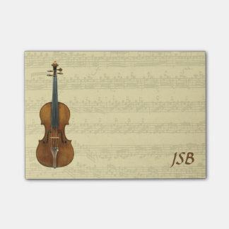 Stradivari Violine Bach Partita Post-it Klebezettel
