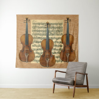 Stradivarius Violinen-Trio Bach Chaconne Wandteppich
