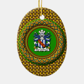 Stradling Wappen - ovale Verzierung Keramik Ornament