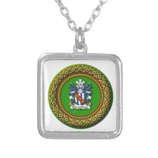 Stradling Wappen - quadratische Halskette klein