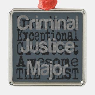 Strafjustiz hauptsächliches Extraordinaire Silbernes Ornament
