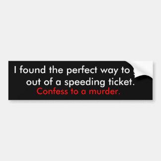 Strafzettel Autoaufkleber