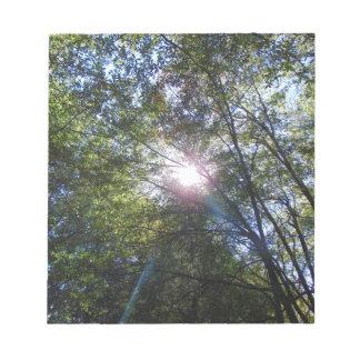 Strahl der Sonne Notizblock