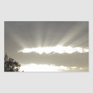 Strahlen des Sun - Teil 2 Rechteckiger Aufkleber