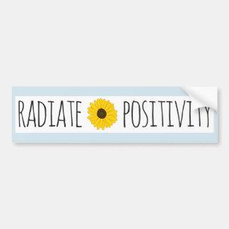 Strahlen Sie Bestimmtheits-Sonnenblume aus Autoaufkleber