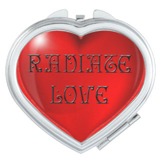 Strahlen Sie Liebe-Herz aus Taschenspiegel