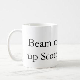 Strahlen Sie mich herauf Scottiekaffee-Tasse Kaffeetasse