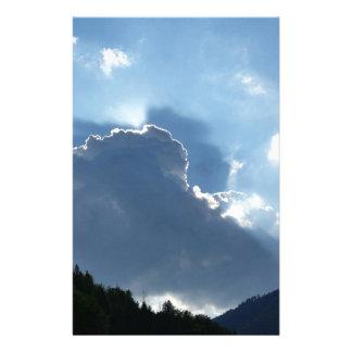 Strahlen und Wolken Briefpapier