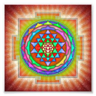 Strahlendes Sri Yantra Mandala II Fotodruck