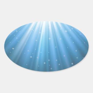 Strahlensun-Strahl inspirierend Ovaler Aufkleber