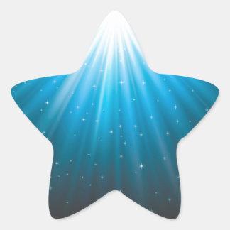 Strahlensun-Strahl inspirierend Stern-Aufkleber
