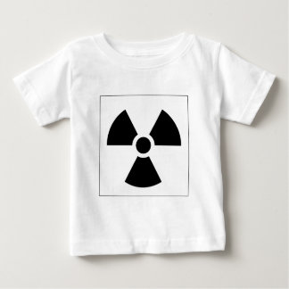Strahlungs-Klee-Zeichen-Symbol-Warnzeichen-Symbol Baby T-shirt