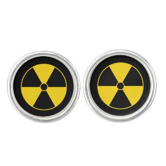 Strahlungs-Symbol Manschetten Knöpfe