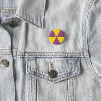 Strahlungs-Symbol Runder Button 2,5 Cm