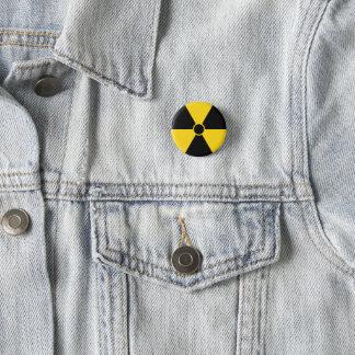 Strahlungs-Symbol Runder Button 3,2 Cm
