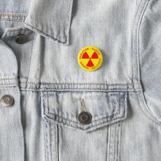 Strahlungs-Warnung Runder Button 2,5 Cm