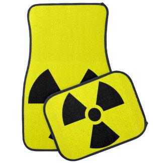 Strahlungs-Zeichen-Auto-Boden-Matten (volles Set) Autofußmatte