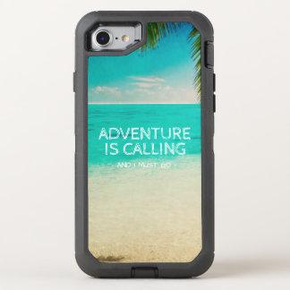 Strand-Abenteuer nennt Reise-Zitat-Telefon OtterBox Defender iPhone 8/7 Hülle