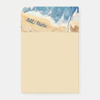 Strand-abstrakte personalisierte Post-Itanmerkung Post-it Klebezettel