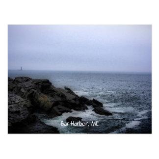 Strand am Acadia, Bar-Hafen, ICH Postkarte