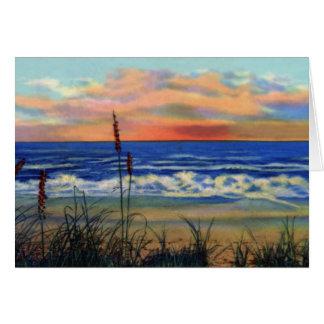 Strand am Sonnenaufgang Fort Pierce Florida Karte
