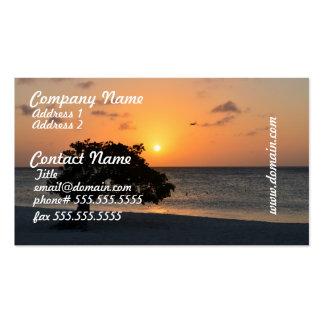 Strand am Sonnenuntergang Visitenkarten