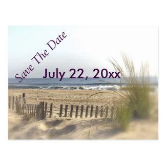 Strand-Ansicht-Vignetten-Postkarte Postkarte