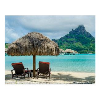 Strand auf Bora Bora Postkarte