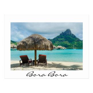 Strand auf Bora Bora Weißpostkarte Postkarte